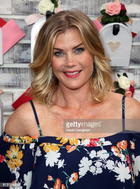 Actress Alison Sweeney visits Hallmark's Home Family at Universal Studios Hollywood on February 1 2018 in Universal City California
