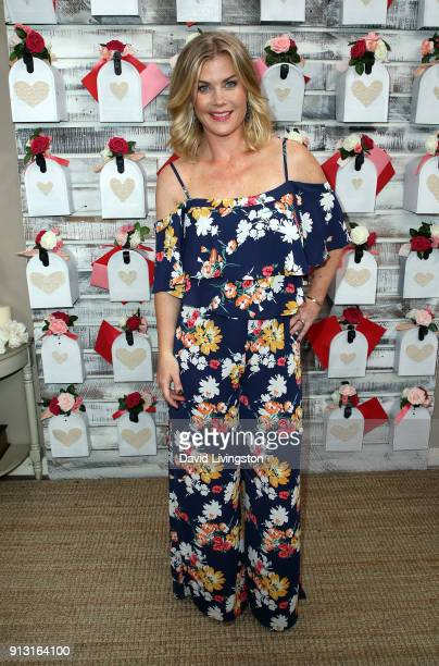 Actress Alison Sweeney visits Hallmark's 'Home Family' at Universal Studios Hollywood on February 1 2018 in Universal City California