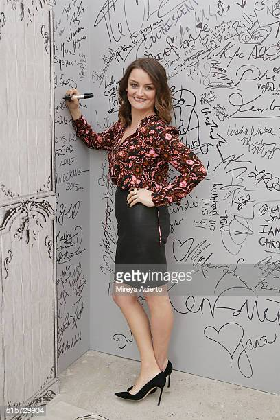Actress Alison Wright discusses 'The Americans' at AOL Studios in New York on March 15 2016 in New York City