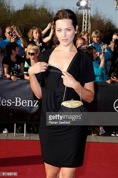 Actress Alissa Jung arrives for the German TV Award 2009 at the Coloneum on September 26, 2009 in Cologne, Germany.