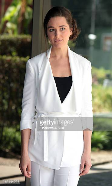 Actress Alissa Jung attends 'Maria di Nazaret' TV series photocall at Rai Viale Mazzini on March 30 2012 in Rome Italy