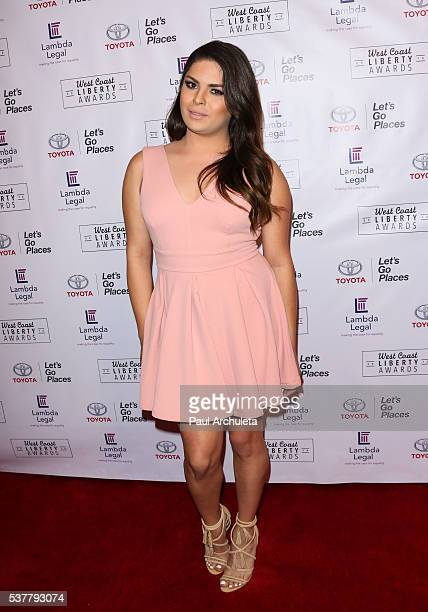 Actress Alissah Brooks attends Lambda Legals 2016 West Coast Liberty Awards Gala at the Beverly Wilshire Four Seasons Hotel on June 2, 2016 in...
