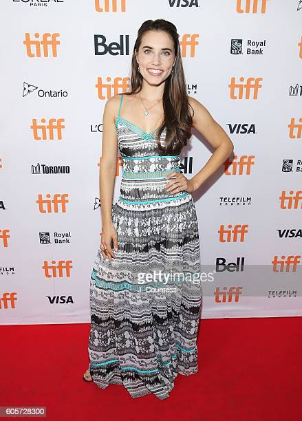 Actress Alix Angelis attends the 2016 Toronto International Film Festival Premiere of 'All I See Is You' at the Princess of Wales Theatre on...
