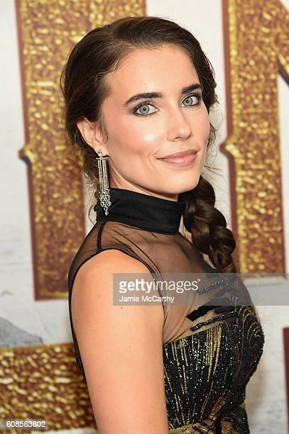 Actress Alix Angelis attends 'The Magnificent Seven' premiere at the Museum of Modern Art on September 19 2016 in New York City