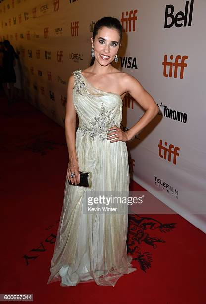 Actress Alix Angelis attends The Magnificent Seven premiere during the 2016 Toronto International Film Festival at Roy Thomson Hall on September 8...