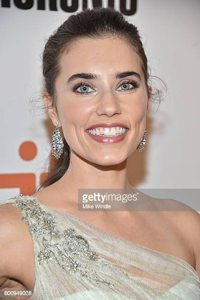 Actress Alix Angelis attends 'The Magnificent Seven' premiere during the 2016 Toronto International Film Festival at Roy Thomson Hall on September 8...