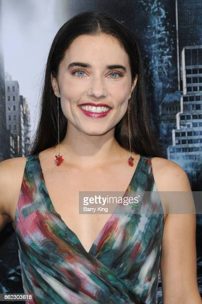 Actress Alix Angelis attends the premiere of Warner Bros Pictures' 'Geostorm' at TCL Chinese Theatre on October 16 2017 in Hollywood California