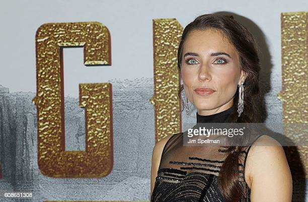 Actress Alix Angelis attends the 'The Magnificent Seven' New York premiere at Museum of Modern Art on September 19 2016 in New York City