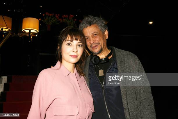 Actress Alix Benezech and actor Abel Jafri attend the Psitive Cinema Week Press Conference at Publicis Champs Elysees on April 10 2018 in Paris France