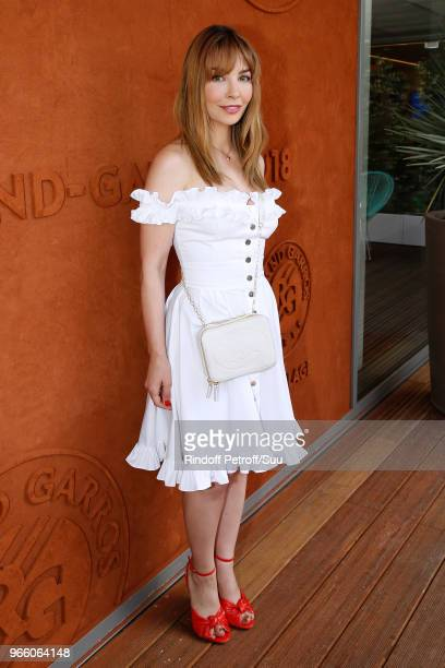 Actress Alix Benezech attends the 2018 French Open Day Seven at Roland Garros on June 2 2018 in Paris France