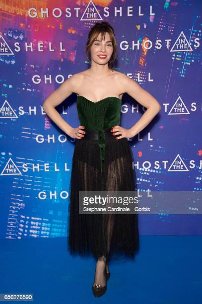 Actress Alix Benezech attends the Paris Premiere of the Paramount Pictures release Ghost In The Shell at Le Grand Rex on March 21 2017 in Paris France