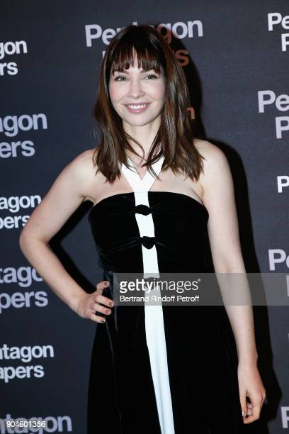 Actress Alix Benezech attends the Pentagon Papers Paris Premiere at Cinema UGC Normandie on January 13 2018 in Paris France
