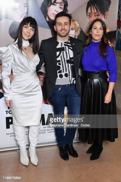 Actress Alix Benezech Director Quentin Delcourt and Director Nathalie Marchak attend the Pygmalionnes Screening at Assemblee Nationale on January 14...