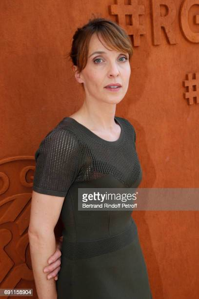 Actress Alix Poisson attends the 2017 French Tennis Open Day Five at Roland Garros on June 1 2017 in Paris France
