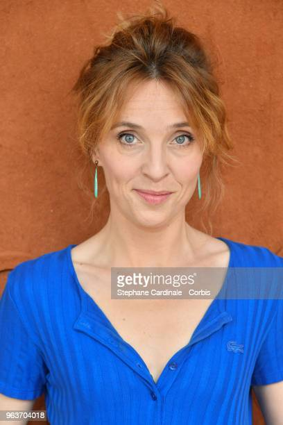 Actress Alix Poisson attends the 2018 French Open Day Four at Roland Garros on May 30 2018 in Paris France
