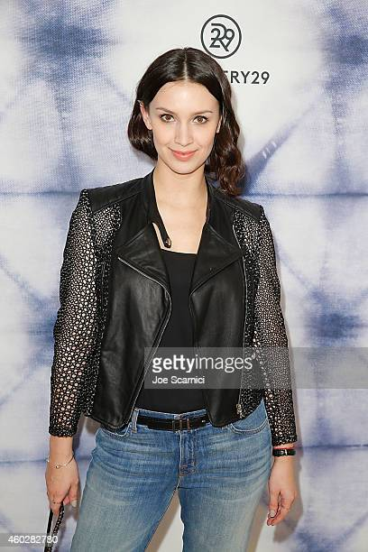 Actress Alixandra von Renner arrives at Refinery29 Holiday Party at Sunset Tower Hotel on December 10 2014 in West Hollywood California