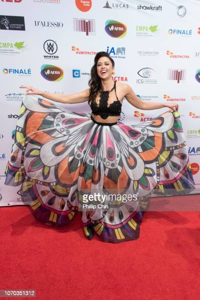 Actress Aliyah O'Brien attends the 7th annual UBCP/ACTRA Awards red carpet at the Vancouver Playhouse on December 8 2018 in Vancouver Canada