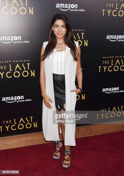 Actress AliyaJasmine Sovani arrives at the Premiere Of Amazon Studios' 'The Last Tycoon' at the Harmony Gold Preview House and Theater on July 27...