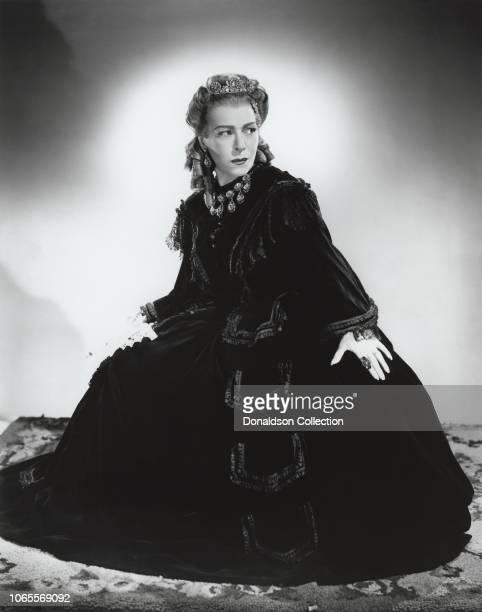 Actress Alla Nazimova in a scene from the movie 'The Bridge of San Luis Rey'