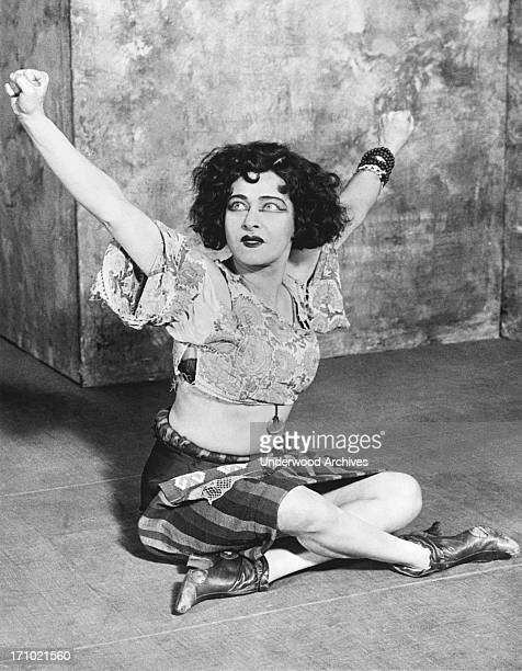 Actress Alla Nazimova in an expressive scene from one of her movies Hollywood California 1924