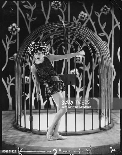 Actress Alla Nazimova Outside Cage