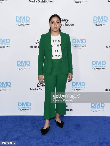 Actress Allegra Acosta arrives at the Disney/ABC International Upfronts at the Walt Disney Studio Lot on May 20, 2018 in Burbank, California.