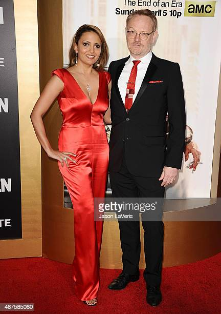 Actress Allegra Riggio and actor Jared Harris attend the Mad Men Black Red Ball at Dorothy Chandler Pavilion on March 25 2015 in Los Angeles...