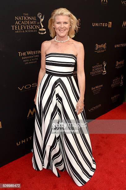 Actress Alley Mills walks the red carpet at the 43rd Annual Daytime Emmy Awards at the Westin Bonaventure Hotel on May 1 2016 in Los Angeles...