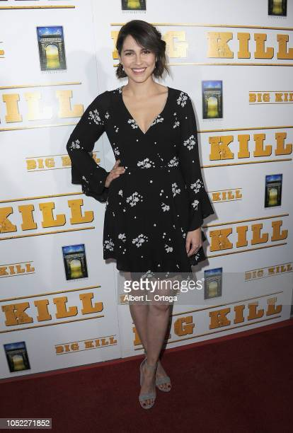Actress Alli Kinzel arrived for the World Premiere Archstone Distribution's 'Big Kill' Premiere held at ArcLight Hollywood on October 15 2018 in...