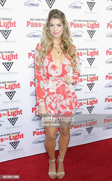 Actress Allie DeBerry arrives at the premiere of 'Pass The Light' at ArcLight Cinemas on February 2 2015 in Hollywood California