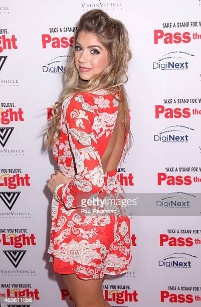Actress Allie DeBerry arriving at the premiere of 'Pass The Light' at ArcLight Cinemas on February 2 2015 in Hollywood California