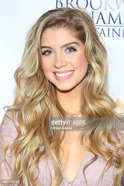 Actress Allie DeBerry attends the 'Hoovey' Los Angeles premiere at Bel Air Presbyterian Church on January 24 2015 in Los Angeles California