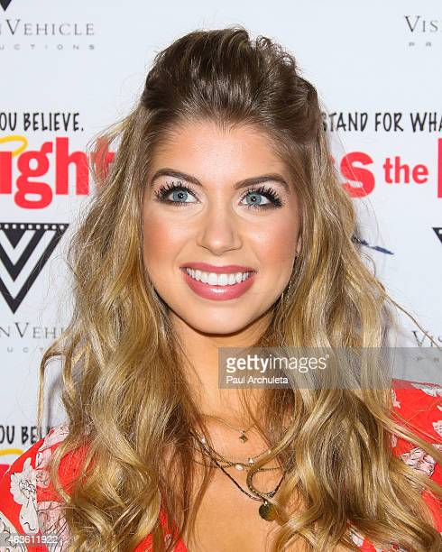 Actress Allie Deberry attends the premiere of 'Pass The Light' at ArcLight Cinemas on February 2 2015 in Hollywood California