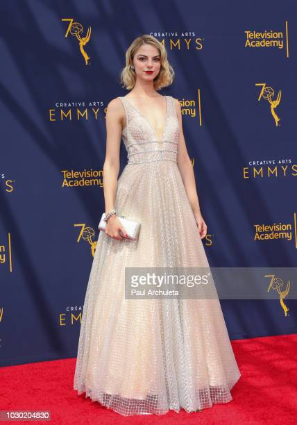 Actress Allie Evans attends the 2018 Creative Arts Emmy Awards Day 2 at the Microsoft Theater on September 9 2018 in Los Angeles California