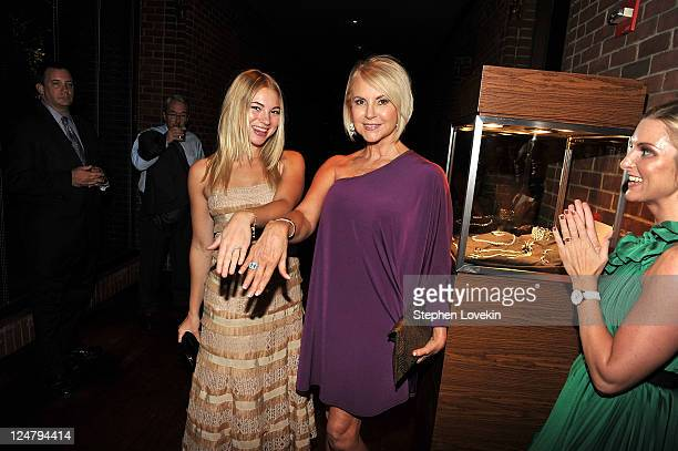 Actress Allie Gonino and Linda Gonino attend the premiere of The Weinstein Company's I Don't Know How She Does It after party sponsored by QVC...