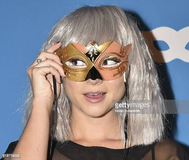 Actress Allie Gonino attends 4th Annual UNICEF Masquerade Ball at Clifton's Cafeteria on October 27 2016 in Los Angeles California