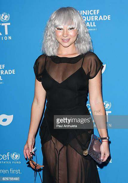 Actress Allie Gonino attends the 4th annual UNICEF Masquerade Ball at Clifton's Cafeteria on October 27 2016 in Los Angeles California