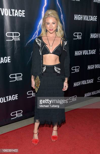 Actress Allie Gonino attends the premiere of 'High Voltage' at TCL Chinese 6 Theatres on October 16 2018 in Hollywood California
