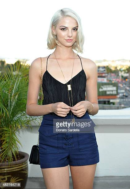 Actress Allie Marie Evans attends Teen Vogue x Simon BTSS Kickoff Dinner on August 5 2015 in Los Angeles California