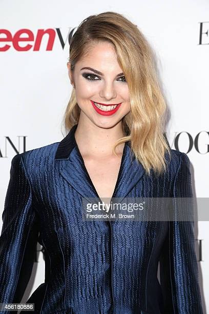 Actress Allie Marie Evans attends the Teen Vogue Young Hollywood Party on September 26 2014 in Los Angeles California