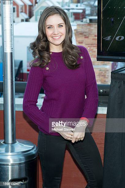 Actress Allison Brie attends Paige Hospitality Game Watch at Sky Bar on January 20 2013 in Park City Utah