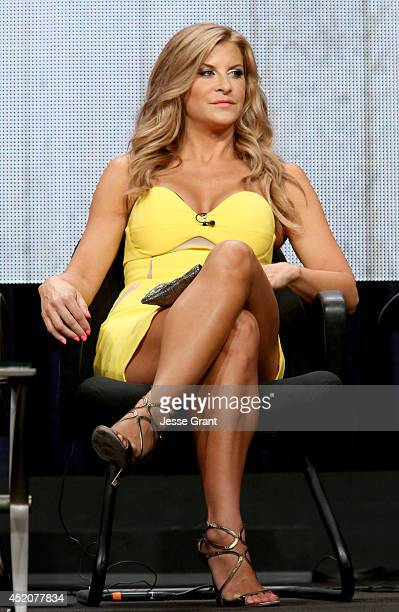 Actress Allison Dunbar speaks onstage during the 'Quick Draw' panel at Hulu's TCA Presentation at The Beverly Hilton Hotel on July 12 2014 in Beverly...