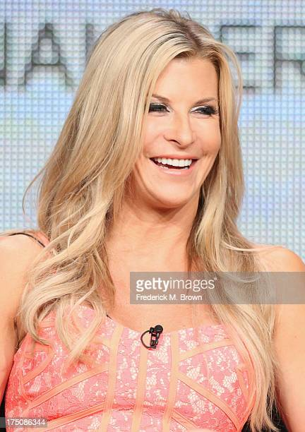 Actress Allison Dunbar speaks onstage during the Quick Draw portion of the Hulu 2013 Summer TCA Tour at The Beverly Hilton on July 31 2013 in Beverly...