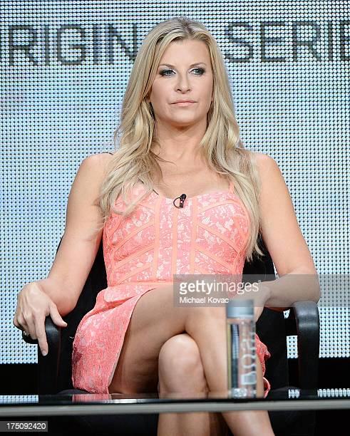 Actress Allison Dunbar speaks onstage during the 'Quick Draw' portion of the Hulu 2013 Summer TCA Tour at The Beverly Hilton Hotel on July 31 2013 in...
