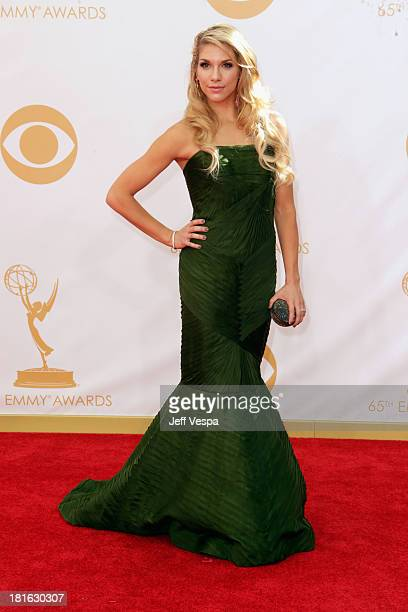 Actress Allison Holker arrives at the 65th Annual Primetime Emmy Awards held at Nokia Theatre L.A. Live on September 22, 2013 in Los Angeles,...