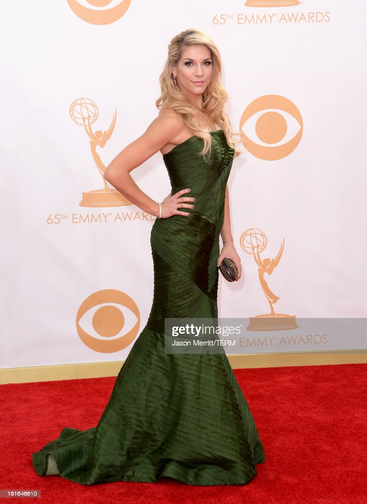 Actress Allison Holker arrives at the 65th Annual Primetime Emmy Awards held at Nokia Theatre L.A. Live on September 22, 2013 in Los Angeles, California.