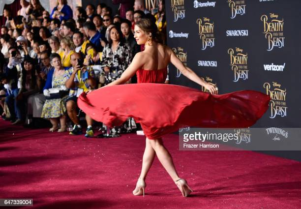 Actress Allison Holker attends Disney's 'Beauty and the Beast' premiere at El Capitan Theatre on March 2 2017 in Los Angeles California