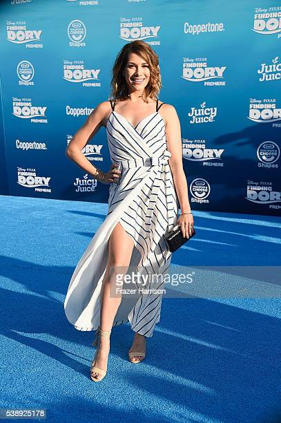 Actress Allison Holker attends the world premiere of Disney-Pixar's 'Finding Dory' at the El Capitan Theatre 2016 in Hollywood, California.