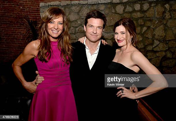 Actress Allison Janney, actor/director/producer Jason Bateman and actress Kathryn Hahn pose at the after party for the premiere of Focus Features'...