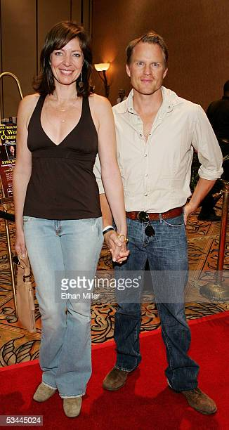 Actress Allison Janney and actor Richard Jenik arrive at the International Pool Tour World 8Ball Championship at the Mandalay Bay Resort Casino...